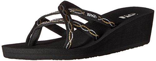 Teva Womens Mandalyn Ola Wedge Sandal Knot Metallic