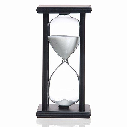 45 Minutes Hourglass Sand Timer, Black Frame Sand Clock
