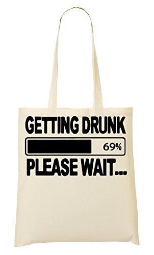 CP I'M Getting Drunk Please Wait Bolso De Mano Bolsa De La Compra