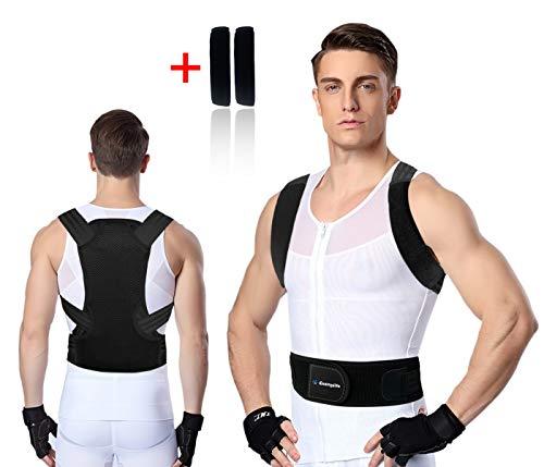 PostureCorrectorforWomen and Men,Exemplife Adjustable Back Brace Provides Lumbar Support,Prevent Slouching and Provide Back Pain