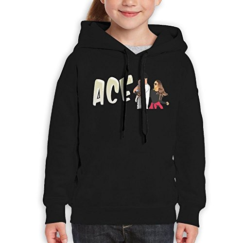 Youth Hooded Sweatshirt ACE Family Fashion Classic Style Black L