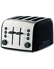 Russell Hobbs RHT94BLK Brooklyn Toaster 4 Slice, Black