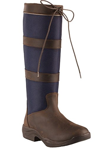 Horze Waterdichte Country Tall Boots Donkerblauw (6-7 (37))