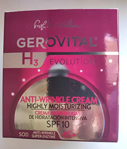 Gerovital H3 Evolution, Anti-Wrinkle Cream Highly Moisturizing With Superoxide Dismutase (The Anti-Aging Super Enzyme) 45+