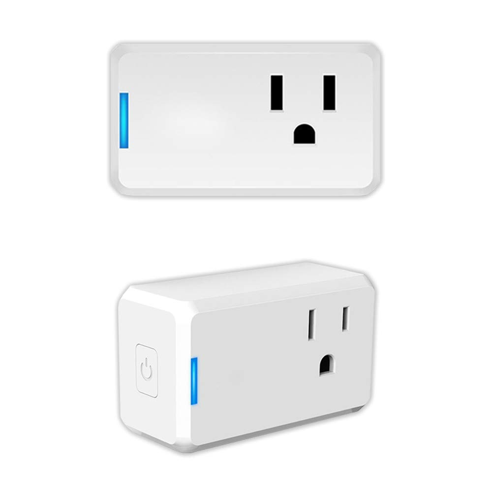Smart Plug, MXQ Mini WiFi Smart Outlet Socket Work with Alexa Google Assistant IFTTT, No Hub Required, Remote Control Your Home Appliances from Anywhere, UL and FCC Listed Only 2.4GHz WiFi 2 Pack
