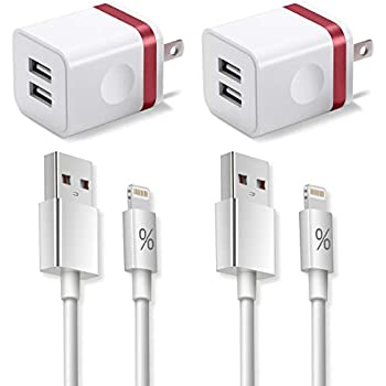 Amazon Com Everdigi Iphone Charger Durable 2pack 3ft