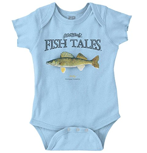 Brisco Brands McFinns Walleye Fish Angler Sea Fisherman Romper Bodysuit
