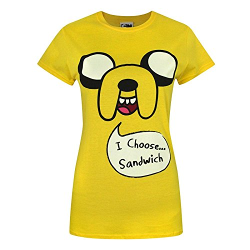 Time 'i camiseta Sandwich 'Mujer Choose Adventure Jake Amarillo AnRWPqRF