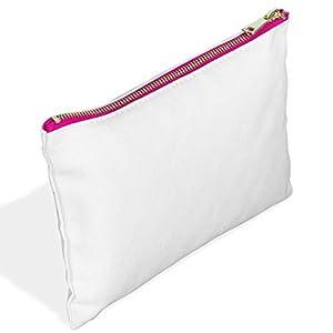 Amazon.com: Canvas Zipper Pouch -Cute Makeup Bag Cosmetic