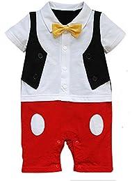 7bd3dda4a Baby Boy 3D Bowtie Photo Prop Romper Onesie Toddler Boy Cartoon Jumpsuit