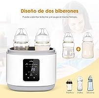 SIMBR Calienta Biberones para 2 Botellas Calentador de alimentos ...