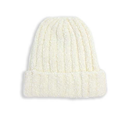 Charter Club Women's Chenille Shaker Cuff Knit Beanie Hat (One Size, Ivory)