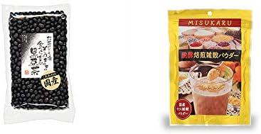 [2点セット] 国産 黒豆茶(200g)・醗酵焙煎雑穀パウダー MISUKARU(ミスカル)(200g)
