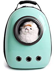 Lemonda Portable Travel Pet Carrier,Space Capsule Bubble Design,Waterproof Handbag Backpack for Cats, Small Dogs and Puppies Rabbits Ferret Multi Colors to Choose (Cyan)