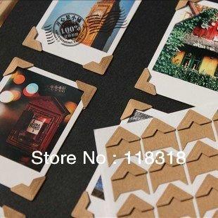 DIY Scrapbooking Kraft Paper Wedding Photo Albums Frame Decoration Corner Stickers