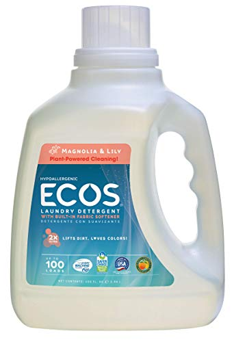 (Earth Friendly Products Ecos Liquid Laundry Detergent , Magnolia & Lily, 100-Ounce Bottle)