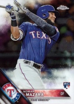 Amazoncom 2016 Topps Chrome Baseball 164 Nomar Mazara Rookie Card