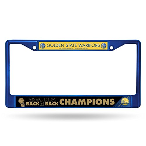 Rico Industries, Inc. Golden State Warriors 2018 Champions BLUE Chrome Frame Metal License Plate Tag Cover ()