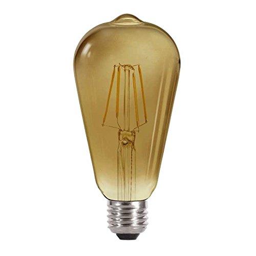 LED Vintage 51-174-04-400 Bombilla, Edison, Fumé, 4 W, Marrón, 14 x 6.4 cm: Amazon.es: Iluminación