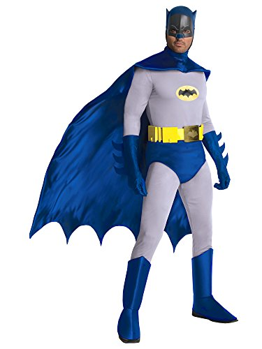 Rubie's Grand Heritage Classic TV Batman Circa 1966, Blue/Gray, Standard Costume]()