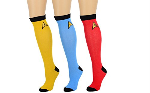Star Trek TOS Knee High Socks Set