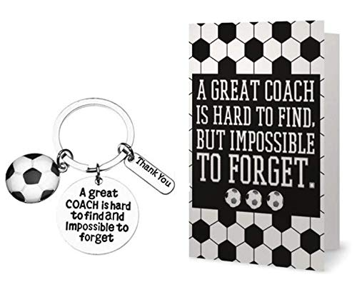 (Sportybella Soccer Coach Keychain and Card- Soccer Coach Gifts- Soccer Great Coach is Hard to Find Jewelry - Perfect Soccer Coach Gifts)