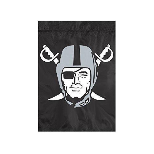 "The Party Animal NFL Oakland Raiders NFL Garden Flag, Black, 18"" x 12.5"""