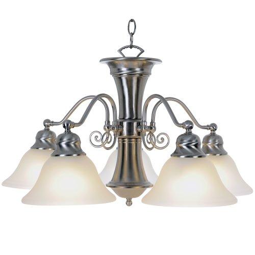 AF Lighting 617206 24-Inch W by 14-3/4-Inch H Wellington Lighting Collection 5 Light Chandelier, Brushed Nickel