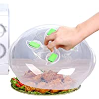 Microwave plate cover, hover Magnetic function, safe convenient with steam vent, prevent splatter cover, Food-grade PP material, BPA-free, FDA-certified,11.5in,Green
