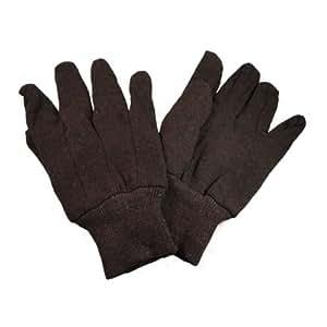 Brown Jersey Cotton Work Glove, 25 Dozen Pair, Total 300 Pair