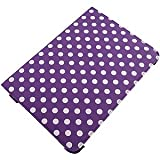 360 Degree Folio Stand Case for Samsung Galaxy Note 10.1, White Dots Purple