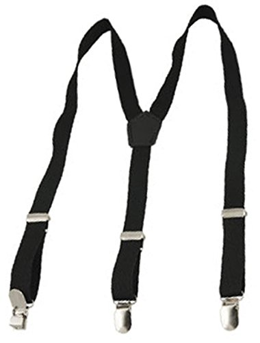 "0.8"" Width Black Y Back Elastic Suspender Braces Strap for Lady"