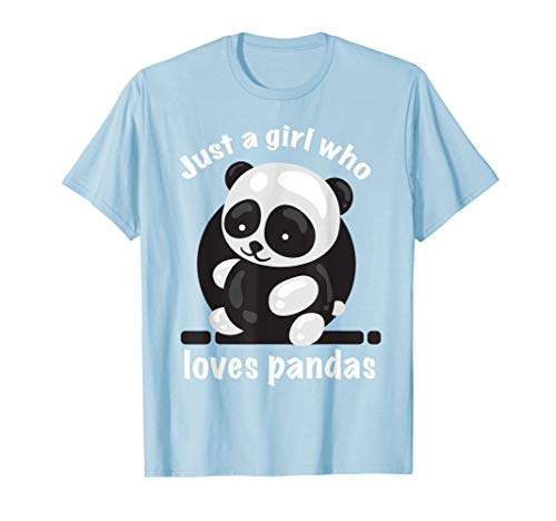 - Cool Just A Girl Who Loves Pandas Shirt Gift For Toddlers