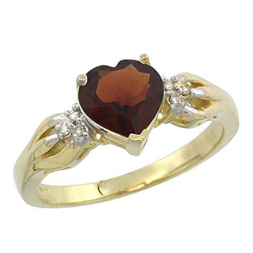 Heart Shape Garnet Ring - 1