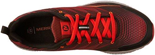 Merrell Trail Crusher, Zapatillas de Running para Asfalto para Hombre, Gris Rojo (Fired Red)