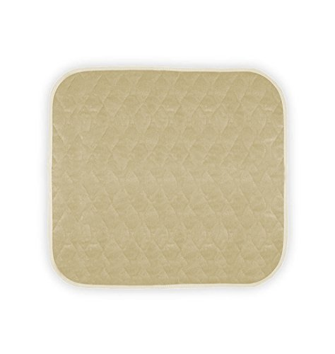 "Almond Car (Americare Absorbent Washable Waterproof Seat Protector Pads 21""x22"" -ALMOND)"