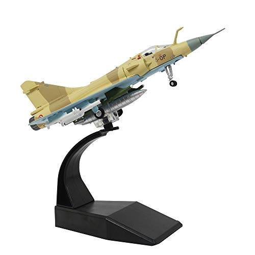 - 1/100 Scale French Air Force Mirage 2000 Metal Fighter Military Model Diecast Plane Model for Commemorate Collection or Gift
