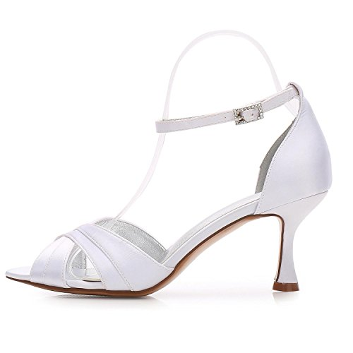 L@YC Women Ladies Evening Wedding ML17061-33 Party Peep Toe Sandals Shoes Size/Ivory/Silver/Blue Blue r5Gso5Kl