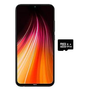"Xiaomi Redmi Note 8 (128GB, 4GB) 6.3"",Quad Camera, Dual SIM GSM Factory Unlocked - US & Global 4G LTE International Version (Space Black, 128GB + 64GB SD + Case Bundle)"