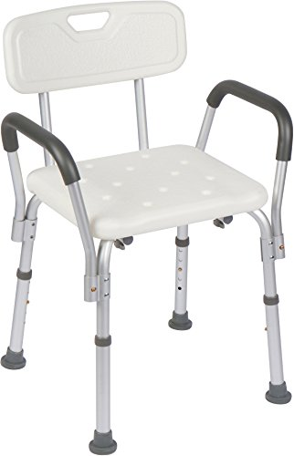 Drive Chairs Medical Shower (Casiva Premium Shower Chair with Arms - Strong, Secure Bathtub Chair & Shower Bench with Non-Slip Feet & Padded Arms)