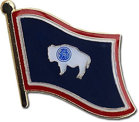 """Backwoods Barnaby Wyoming Flag Pin/U.S. State Lapel Pins Collection (WY, 0.75"""" x 0.75"""")"""
