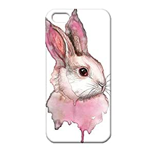 iPhone 5/5s/SE 3D Phone Case Cute Bunny With Various Forms Design Cover Back Snap on iPhone 5/5s/SE Skillfully Refinement Mobile Shell