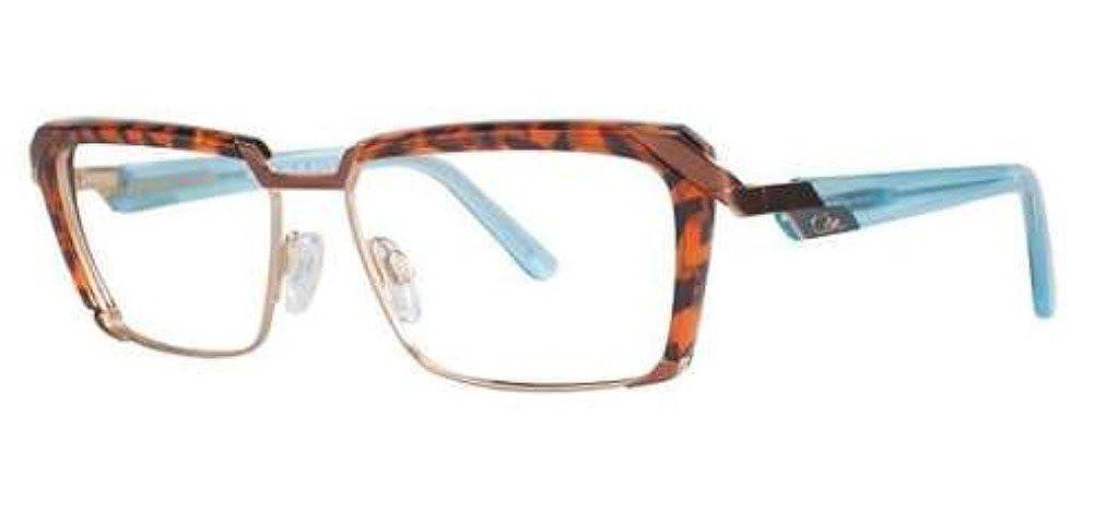 d4ddb6d63c Amazon.com  Cazal 4226 Eyeglasses 001 Tortoise Light Blue Temple 54mm   Clothing