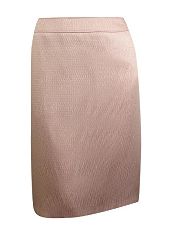 Tahari Asl Plus Size Pencil Skirt Pastel Pink 16w