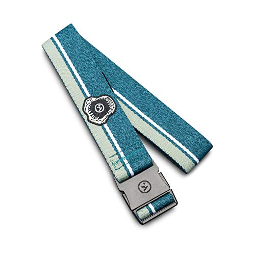 Arcade Boys and Girls Elastic Stretch Web Belts: Youth Adventure Collection, Adjustable NonMetal Buckle, Rambler Heather Fog Blue