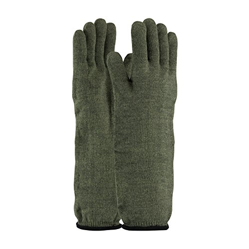Knit Hot Mill (Kevlar / Preox Seamless Knit Hot Mill Glove with Cotton Liner - Extended Cuff 43-858L, (12))
