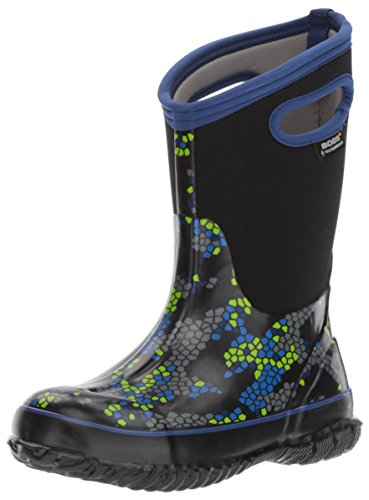 Bogs Classic High Waterproof Insulated Rubber Neoprene Rain Boot Snow, Axel Print/Black/Multi, 3 M US Little Kid ()