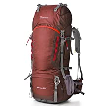 Mountaintop 80L Outdoor hiking backpack Trekking backpack Travel backpack with rain cover, 83 x 36 x 25cm
