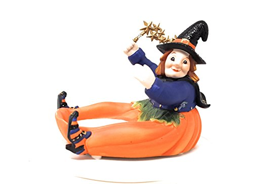 Halloween Pumpkin Witch Candle Holder Decoration by PartyLite