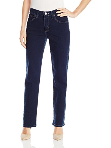 Petite Classic Fit Pants - Riders by Lee Indigo Women's Classic-Fit Straight-Leg Jean, Dark, 16 Petite